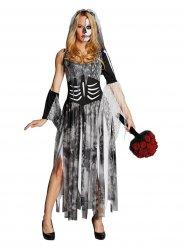 Costume da sposa scheletro halloween per donna