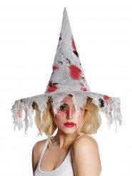 Cappello da strega insanguinato per adulto