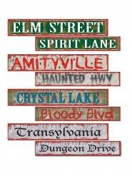 Cartelli di segnalazione decorativi halloween