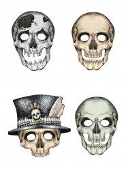 Kit 4 maschere scheletro in cartone