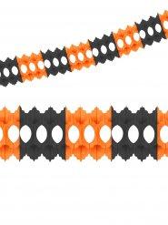 Ghirlanda nera e arancione in carta 3.60 Metri