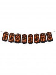 Bannier decorazione Halloween nero arancione