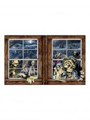 Decorazione attacco zombie colorata 1x1.6 m Halloween