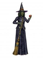 Cartonato strega con scopa 182 cm halloween