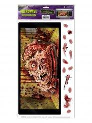 Adesivo per micro-onde testa di zombie halloween