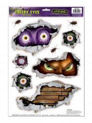 9 adesivi occhi malefici halloween