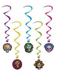 Decorazioni a spirale dia de los muertos halloween