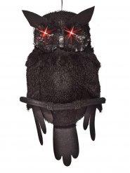 Gufo decorativo con occhi luminosi