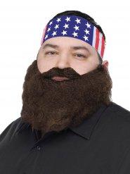 Bandana USA con barba per uomo