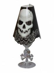 8 Decorazioni per bicchieri con teschio halloween