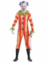 Costume seconda pelle clown assassino per uomo