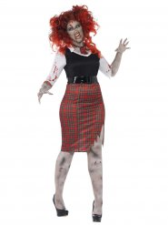 Costume da scolara zombie per donna