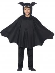 Poncho pipistrello nero bambino halloween