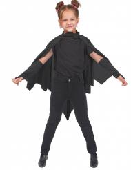 Mantello da pipistrello nero bambina halloween