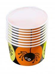 8 Coppette per caramelle con ragno halloween