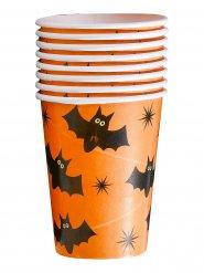 8 Bicchieri in cartone con pipistrelli halloween