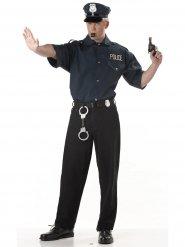 Camicia nera da poliziotto per uomo