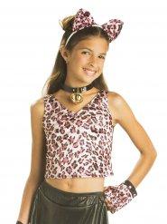 Maglia leopardata per bambina Reversibile
