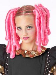 Accessorio capelli rosa con boccoli