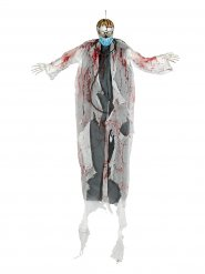 Decorazione luminosa dottore zombie 180 cm halloween