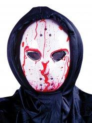 Maschera da hockey insanguinata con pompa