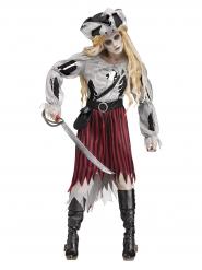 Costume da pirata fantasma zombie per donna