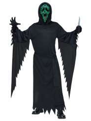 Costume Scream™ con luce verde e nera per adulto