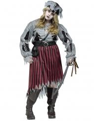Costume da pirata zombie per donna Taglia Grande