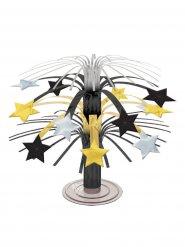 Centro tavola con stelle nero oro e argento 19 cm