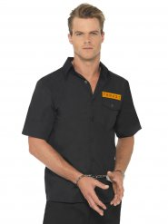 Camicia da prigioniero nero e arancione per uomo