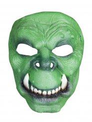 Mezza maschera verde orco o troll in latex
