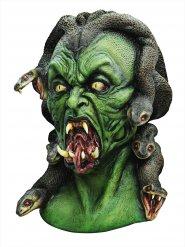 Maschera in latex da Medusa demoniaca verde
