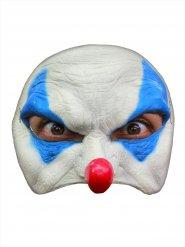 Maschera clown cattivo Halloween bianca e blu