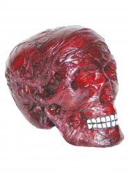 Decorazione halloween teschio rosso