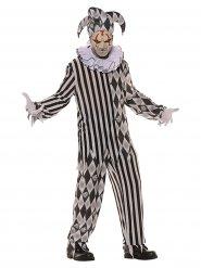 Costume giullare horror per uomo halloween
