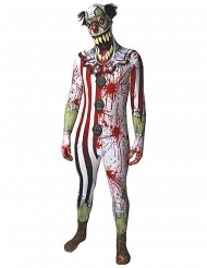 Costume da clown insanguinato per adulto Morphsuits™ halloween