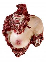 Decorazione Busto di donna lacerato Halloween