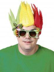 Parrucca jamaicana gialla rossa e verde