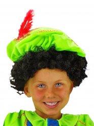 Parrucca capelli ricci neri per bambini