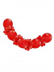 Festone di palloncini a cuori rossi San Valentino
