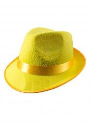 Cappello borsalino giallo per adulto