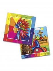 20 tovaglioli indiani multicolor