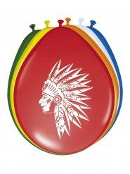 8 palloncini da indiano multicolor