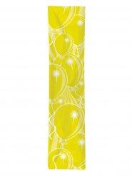 Decorazione striscione festivo per compleanno con palloncini gialli