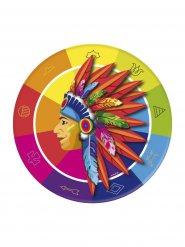 8 Piatti con Indiano in carta