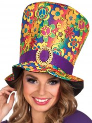 Cappello a cilindro Hippie Multicolore Adulto
