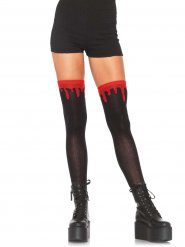 Calze nere con sangue per donna halloween
