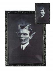 Quadro lenticolare gentiluomo demoniaco 48 x 36 halloween