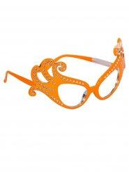 Occhiali Arancioni con brillantini