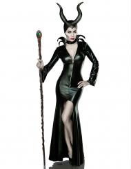 Costume lusso strega nera sexy per donna